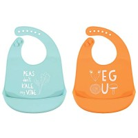 Hudson Baby Unisex Baby Silicone, Waterproof Bibs