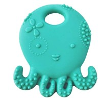 YOUSIKE Octopus Multi-Textured, Soft & Soothing, Easy-Hold, Silicone Teether for Newborn Babie, Infant Teething Toy Teether in Appetite Stimulating Colors