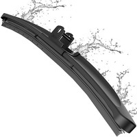 Wiper Blade, METO T6 26inch, 20inch,  24inche, 29inch Windshield Wiper : Water Repellency Polymer Materials Silence Blade, Up to 60% Longer Life, for All Season even Clean Ice & Snow in Winter(Pack of 1)